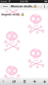 【SkullsNote メキシカンスカル画面】