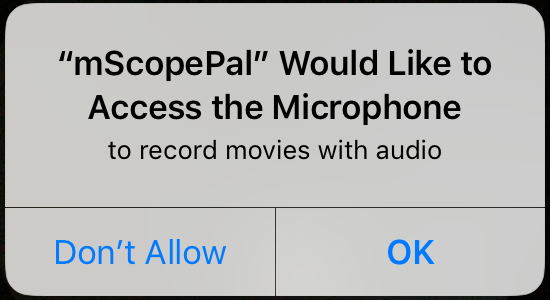 microphone permission dialog